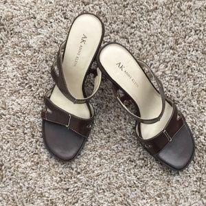 Anne Klein Brown Sandals